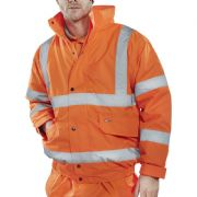 Hi-Vis Bomber Jacket - Orange